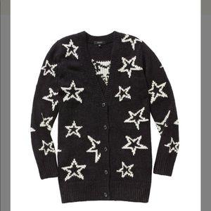 Talula Aritzia star cardigan sweater black XS